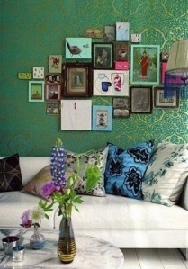 Emerald Green Wall Paper