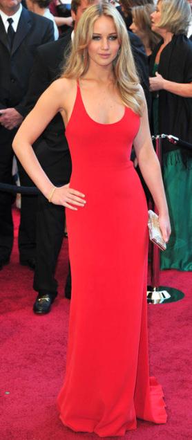 Jennifer Lawrence Oscars 2011, Calvin Kline Collection