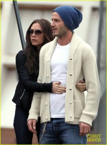 David And Victoria Beckham Watching Their Sons Play Soccer In Los Angeles