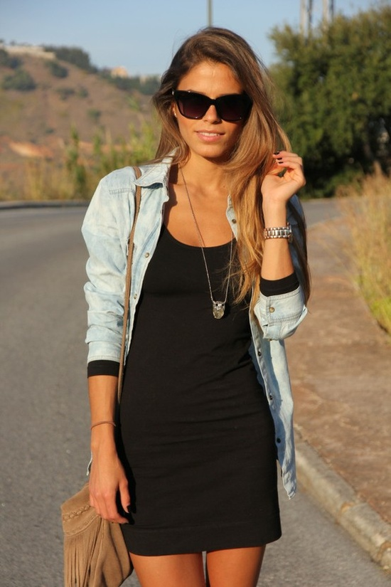 denim shirt with back dress