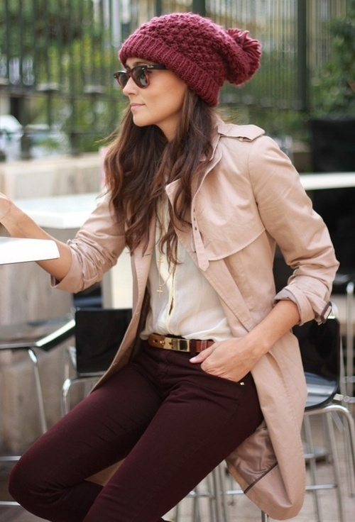 Maroon and blush pink